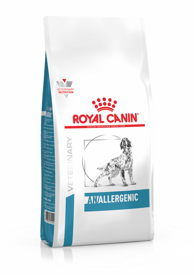 картинка Royal Canin Anallergenic для собак исключающая диета первого выбора, диета для собак с тяжелой формой пищевой аллергии/непереносимости от магазина Зоотоваров-
